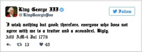 king george iii tweet