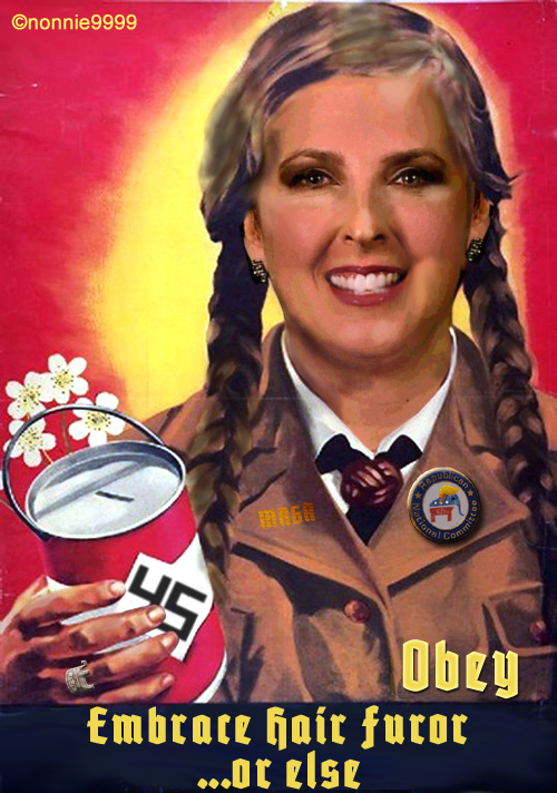 german propaganda poster ronna romney mcdaniel