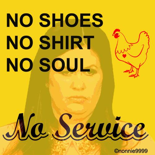 NO SERVICE SIGN