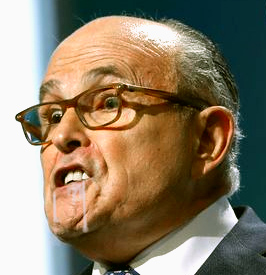 rudy giuliani salivating